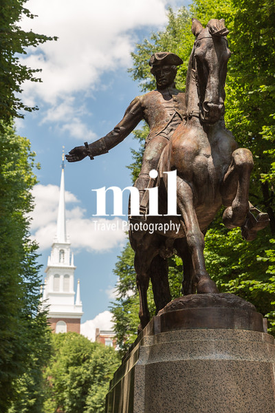 Old North Church and the midnight ride of Paul Revere