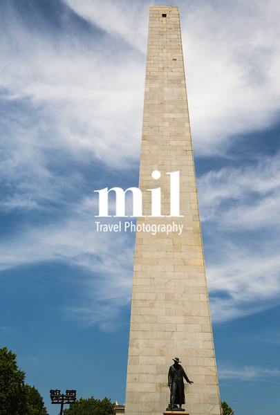 Bunker Hill Monument on Freedom Trail in Boston