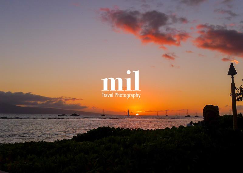 Sunset on Maui in Hawaii