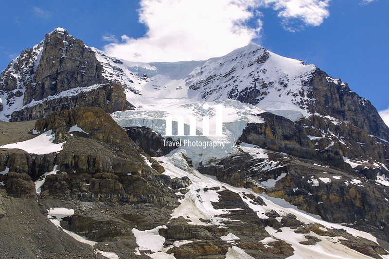 Athabasca Glacier in Columbia Icefield