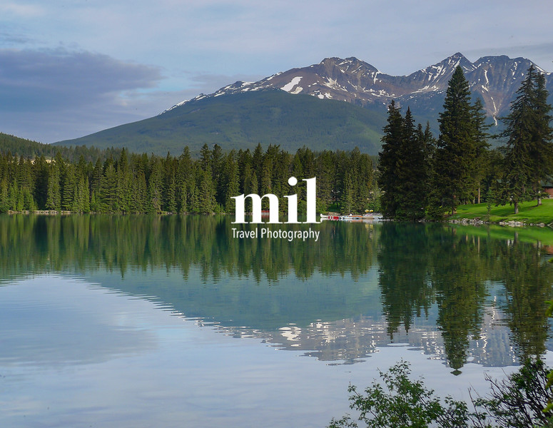 Serene lake in Jasper
