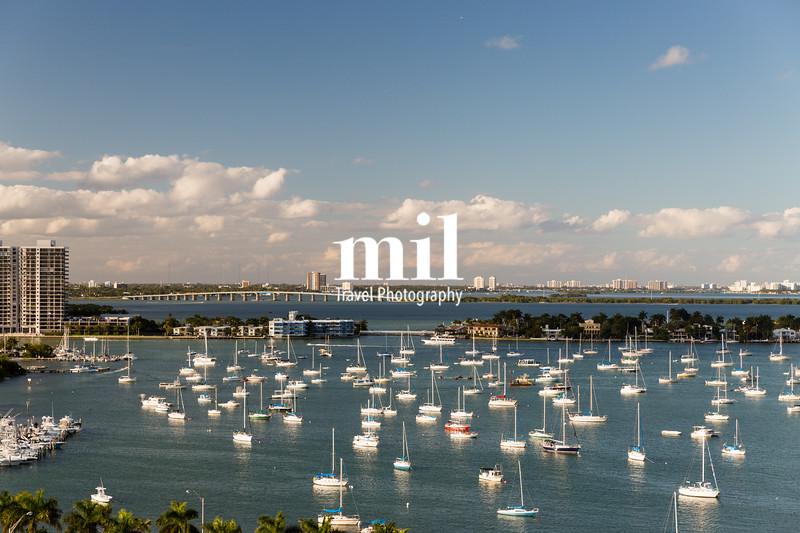 Boats near Star Island Miami