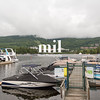 Lake Tremblant at the foot of Mont Tremblant