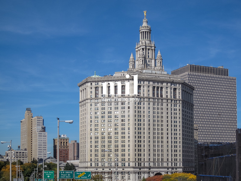 Manhattan municipal building in New York City