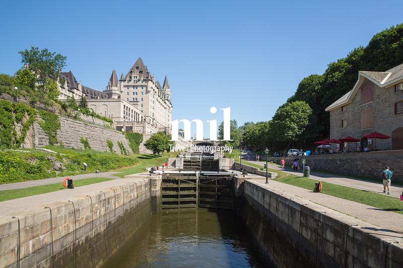 Rideau Canal Locks in Ottawa Ontario Canada