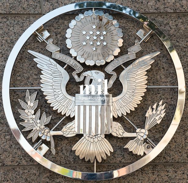 US Embassy emblem in Ottawa Ontario Canada