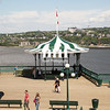 An old boardwalk bandstand of Quebec City