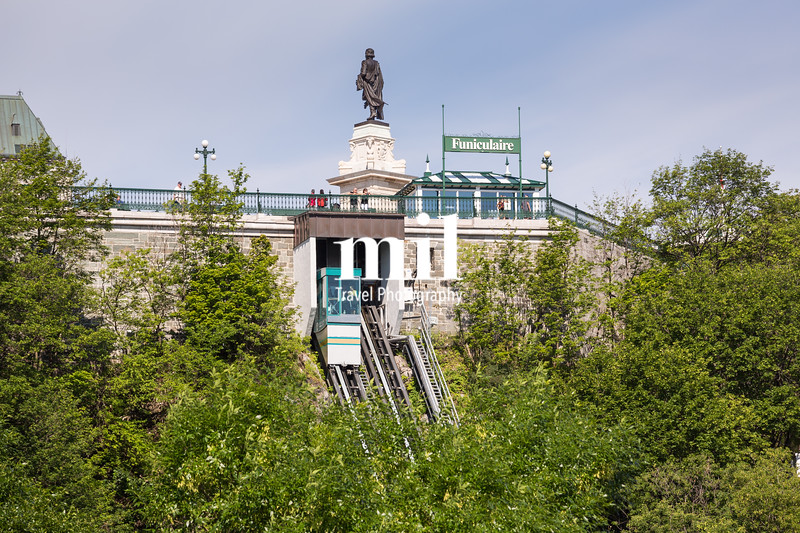 The Funicular Railway of Quebec City in Canada