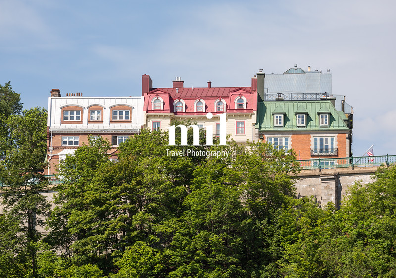 The architecture and skyline of Quebec City
