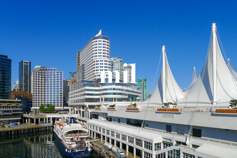 The beautiful waterfront of Vancouver in Canada