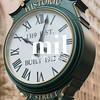 Historic F Street Clock in Washington DC