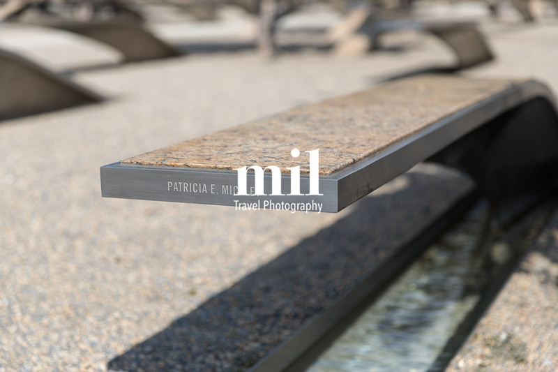 One of the benches at the Pentagon Memorial