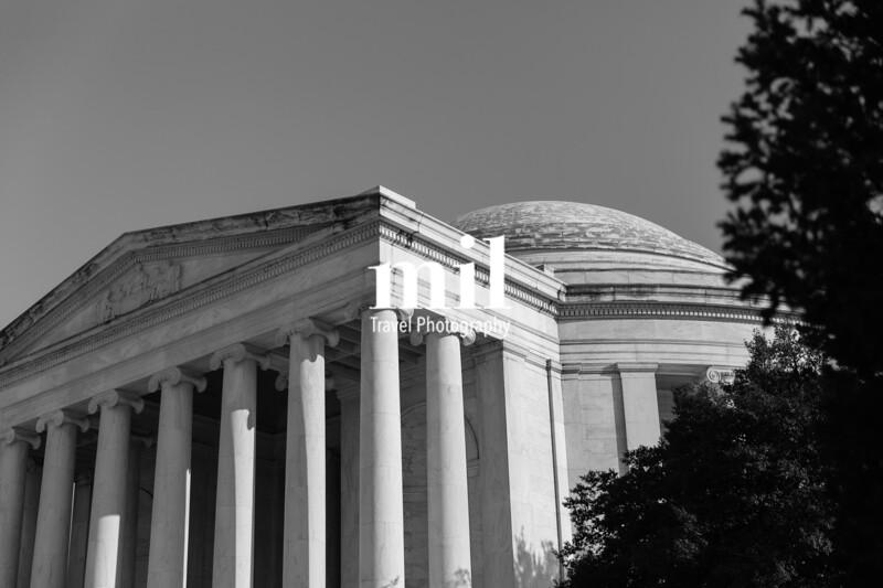 Black and White Thomas Jefferson Memorial