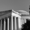 Black and White Thomas Jefferson Memorial
