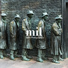Depression Bread Line Five Male Figures at the FDR memorial