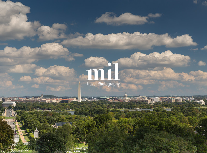 The view of Washington DC from Arlington Cemetery
