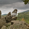 Rocks on the Skyline Drive in Shenandoah National Park