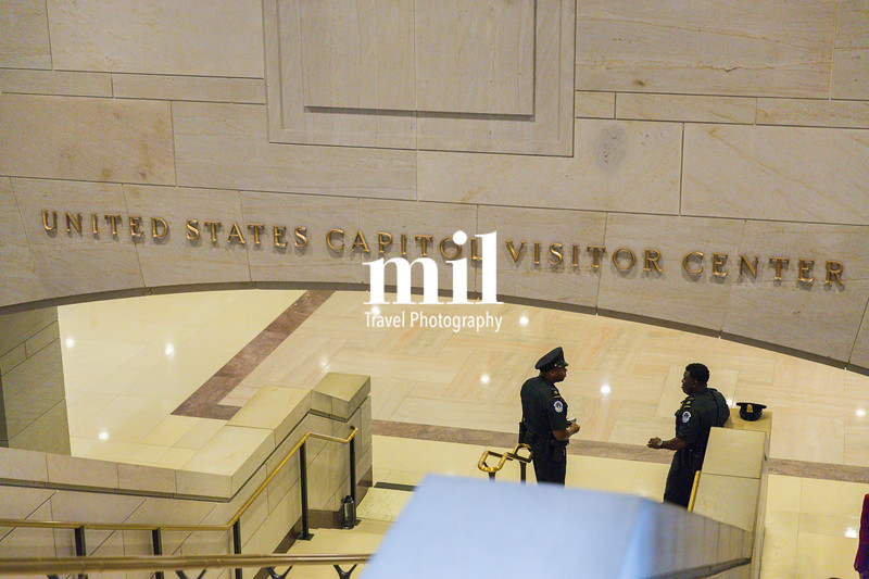 The entrance to the Capitol Visitor Center