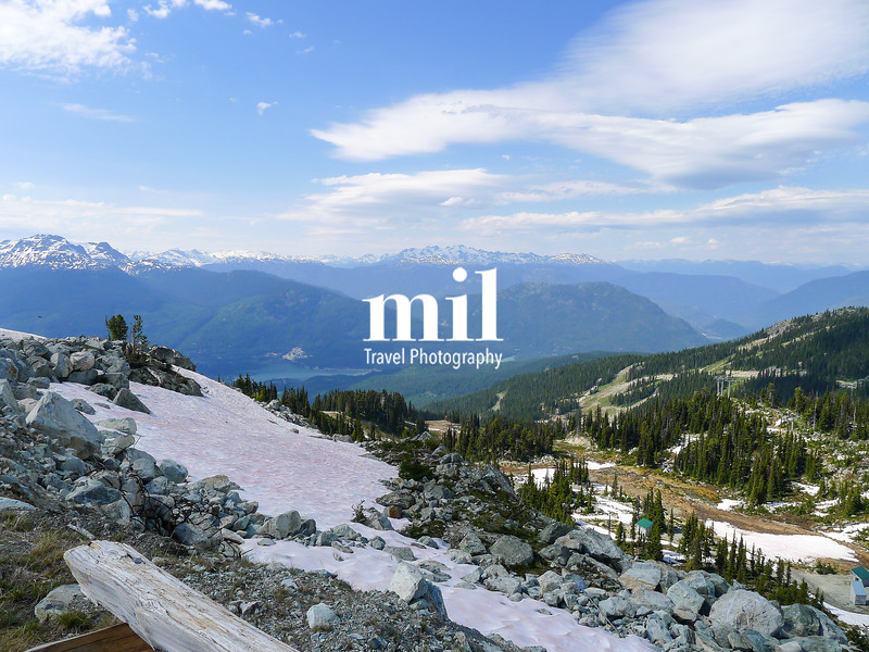 View from Whistler in the summer