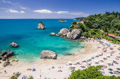 Parga heart beach
