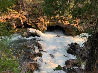 Rogue river running through lava tube
