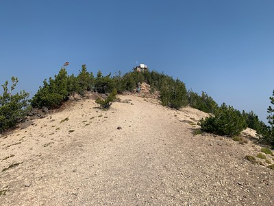 Fire lookout at the summit
