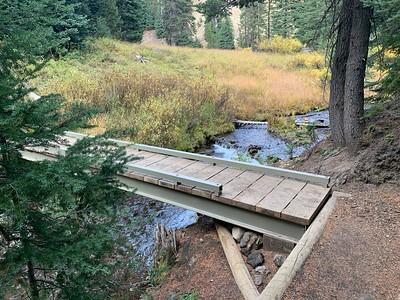 One of the 4 bridges across the creek