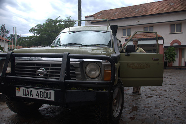 Setting out from Entebbe – even though it was the dry season,  we had heavy rain overnight