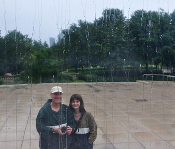 Drizzly reflection in the Cloud Gate