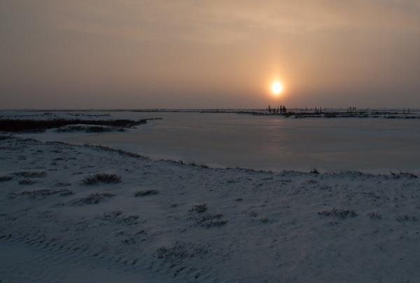 Sunrise in the subarctic