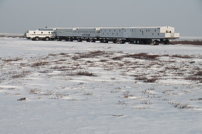 Natural Habitat Adventures' mobile Tundra Lodge on the edge of the Hudson Bay