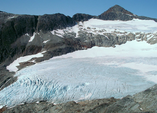 Flying above Juneau glaciers