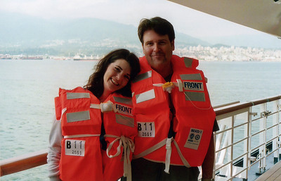 Stacey & Ray wonder if they'll get to keep these fetching orange vests