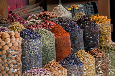 The spice souk was filled with enticing colors and aromas