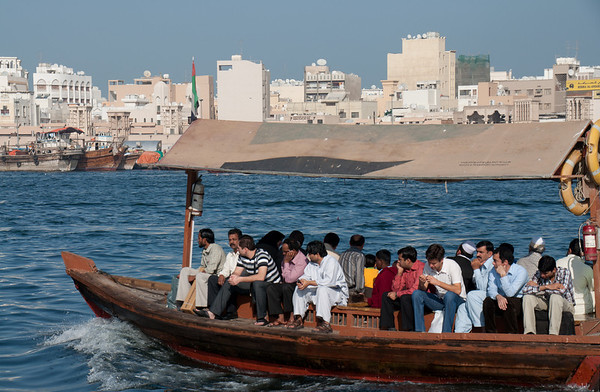 Abras are in constant motion, transporting people across Dubai Creek; these turned out to be a cheap and scenic way to navigate the city