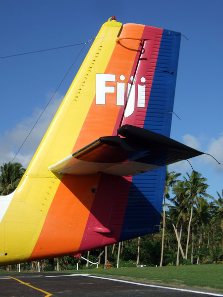 Our Fiji adventure begins with a puddle jumper flight from Nadi