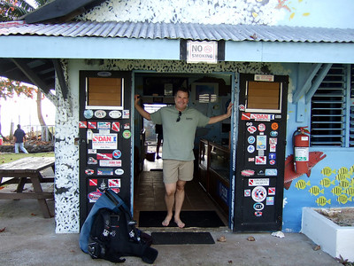Paradise Dive Club of Santa Barbara is added to the wall of dive decals