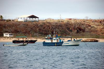 Local boats in Baltra Harbor