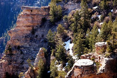 Snow was still clinging to the canyon walls