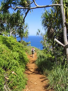 On the Na Pali trail