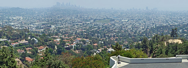 View of L.A. from the Griffith Observatory roof