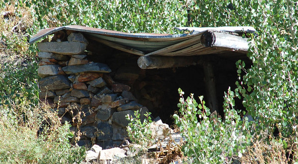 Remains of mining camp at Coldwater