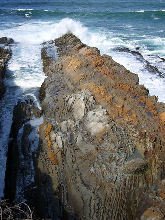 Layers of Monterey shale bear witness to this area's long geological history