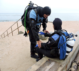 Gearing up for a dive