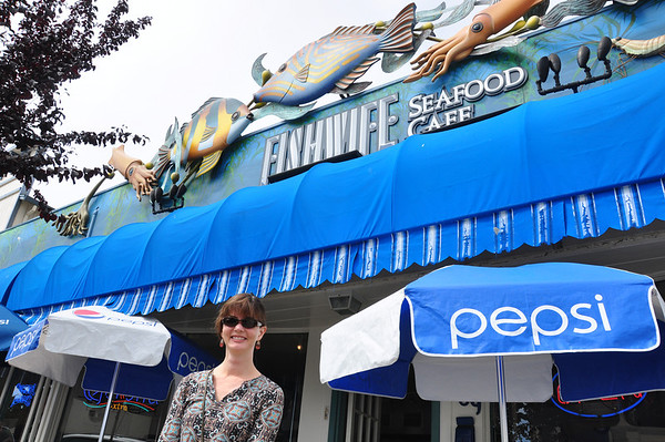 We were a little dubious about this festively decorated cafe, but the seafood was terrific