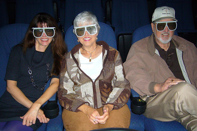 Getting ready to see Sharks in 3-D at the Imax – don't we look cool?