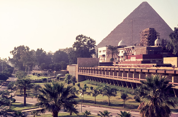 Pyramids from Mena House Oberoi