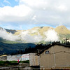 This Cayambe village is high up in the Andes. Anywhere you look you see higher mountains and clouds.