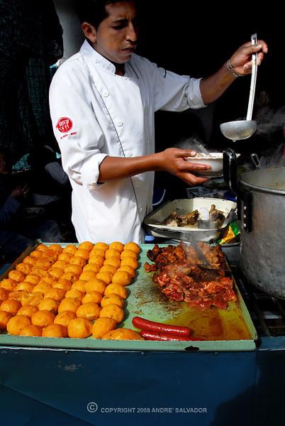 Otavalo Market<br /> <br /> Beef stew with yello potato balls.