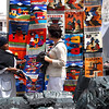 Otavalo Market<br /> <br /> Ecuadorian banners and Ecuadorian masks wall hangings.